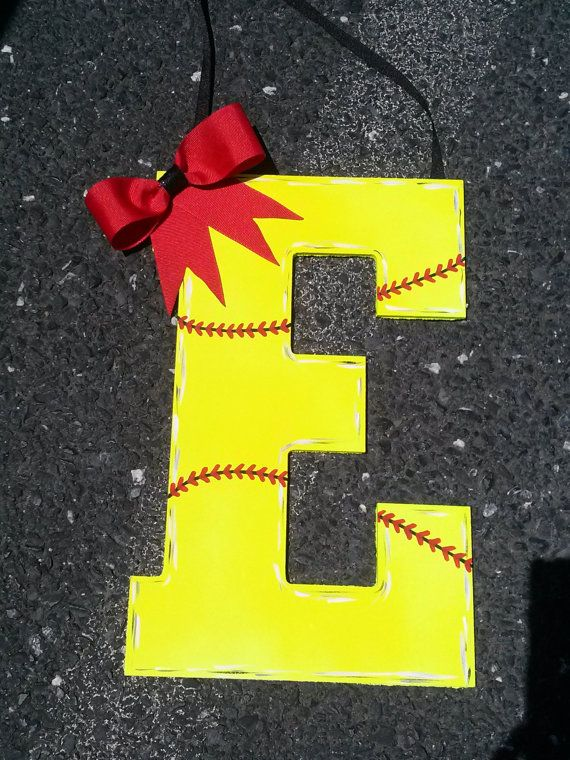 softball wall decor softball room decor sports decor by craftkicks, $20.00