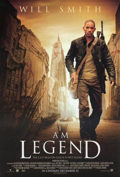 I Am Legend (2007) Will Smith, Alice Braga.  When a terrible virus spreads across the planet and turns the human race into bloodthirsty mutants, civilization's last hope for survival lies with scientist Robert Neville, the only person unaffected by the epidemic...9a