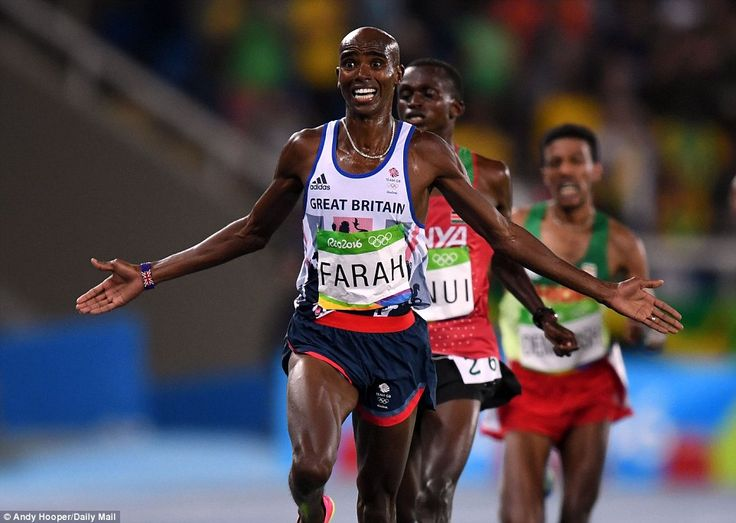 Mo Farah defends his Olympic 10,000m title to land GB's 10th gold of Rio Games 2016| Daily Mail Online