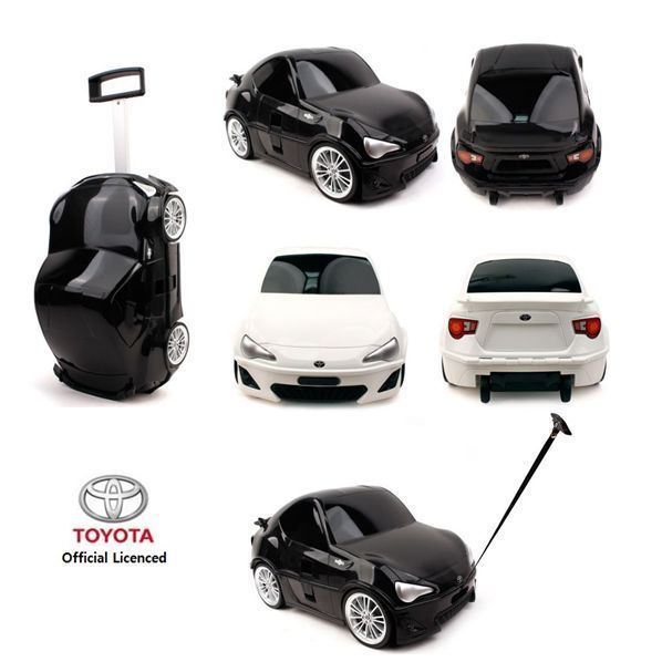 TOYOTA Camaro Toy Kid Wheeled Travel Case Carry On Rolling Luggage Black/White #WINGHOUSE
