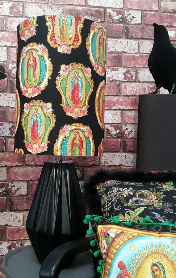 Check out this item in my Etsy shop https://www.etsy.com/uk/listing/477308898/our-lady-of-guadalupe-large-lamp-shade