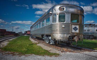 Scarica sfondi vecchio carro, ferrovia, pa