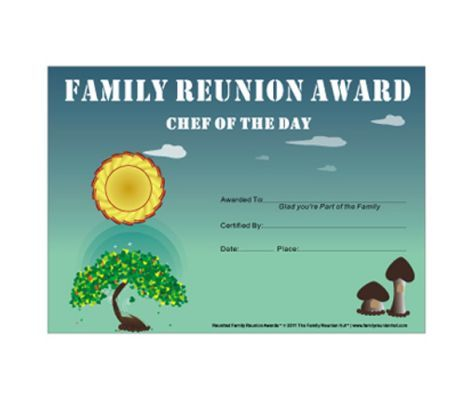 23 best Awards images on Pinterest Family gatherings, Family - free printable family reunion templates