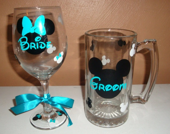 Disney wedding<3 This is really just too adorable!(: