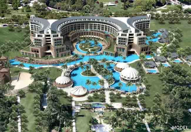 The Hotel Riu Kaya Palazzo (All Inclusive 24h) located in Belek, Turkey, has a 5-star service and a multitude of reasons that make it so unique. It will reopen in July 2013 following a complete renovation. Hotel Riu Kaya Palazzo – Belek-Antalya - RIU Hotels & Resorts. (model picture)