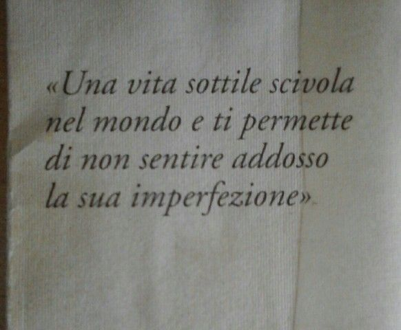 Chiara Gamberale, Una vita sottile.