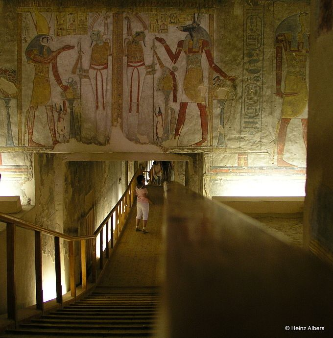 Tomb Paintings in the Valley of the Kings, Egypt. Tomb of Tausret and Setnakht