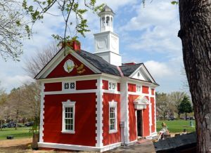 This scale model of Lancaster's Colonial-era courthouse, which is located in Buchanan Park and recently restored, was built to sell World War I liberty bonds in Lancaster's Penn Square.