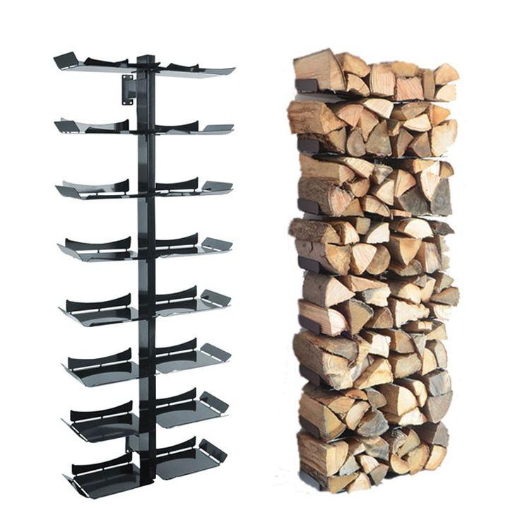 Radius Kaminholzständer Wand schwarz gross Firewood Tree Wooden Tree - 728 a Feuer & Grill Kamin Zubehör Holzlegen & Holzkörbe