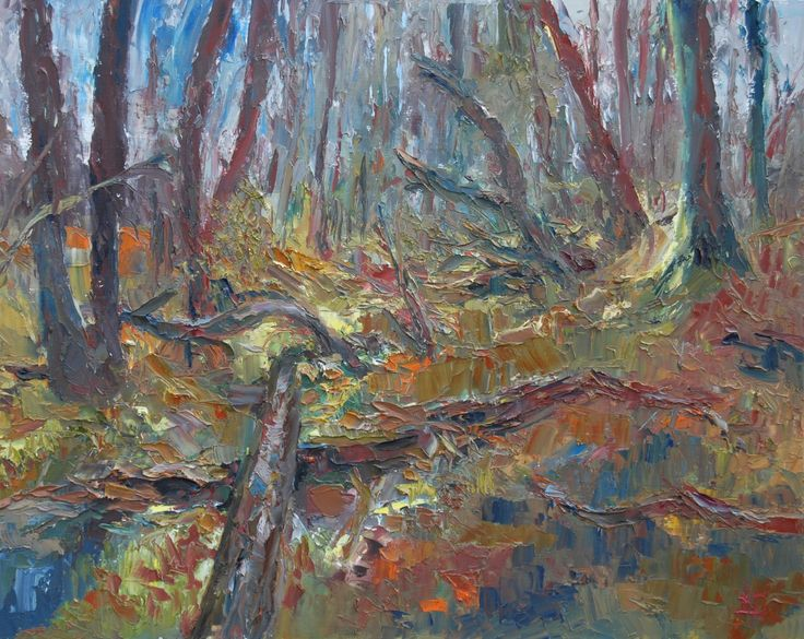 The Wood In March 2, Painting by Brian Hanson | Artfinder