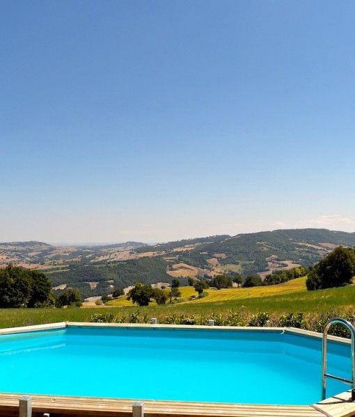 Uitzicht vanaf vakantiehuis Scuola Le Marche in Fossombrone