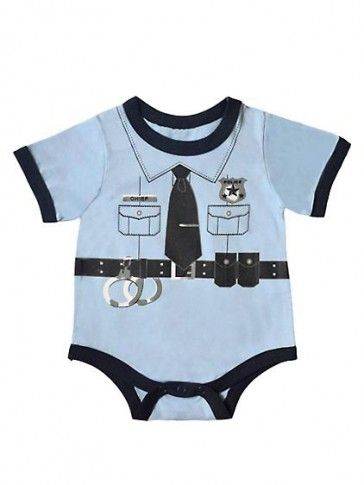 Police Officer Baby Boy Clothes Bodysuit Costume Baby Clothes