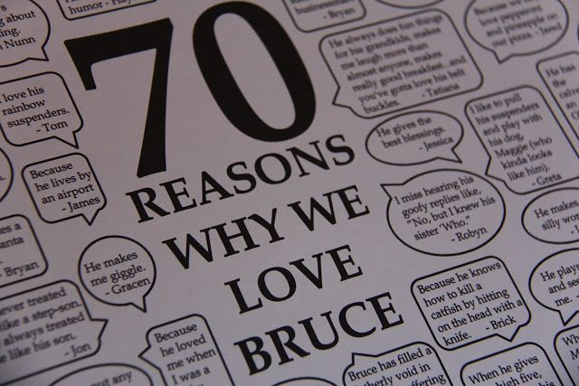 Sometimes Creative: 70th Birthday Gift LOVED this Idea but no one got anything back to me...