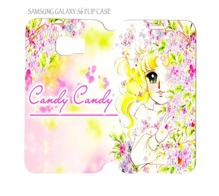 Samsung Galaxy S6 G920 Folio Flip Case Candy Candy Old Anime Japan #QuinnCafe