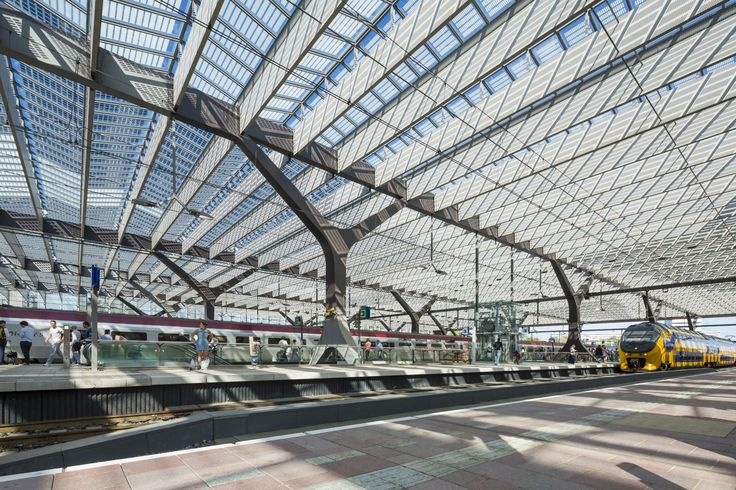 HOW IT'S MADE: ROTTERDAM CENTRAL STATION with stories by Team Cs (Benthem Crouwel Architects​, MVSA AND WEST 8), ODS Jansen and alcantara stone