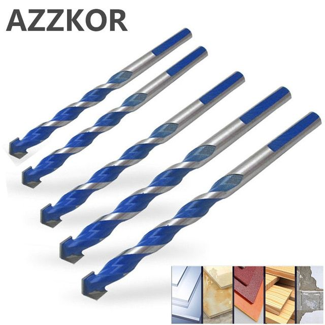 Triangle Drill Bit Tiling Cement Multi Purpose Ceramic Wall Glass Cement Hole Opener Stone Blue Cutter Nail Metal Drill 6 12mm Review Drill Bits High Quality Nails Triangle Nails