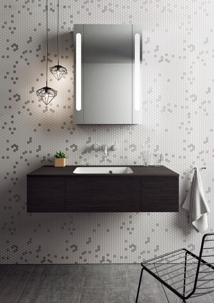 Contemporary wall-mounted bathroom furniture design - Pier 1000 Unit & Cast Mineral Marble Basin from Bauhaus. http://www.crosswater.co.uk/product/furniture-basin-units-browse-by-range-pier/pier-1000-unit-and-cast-mineral-marble-basin-pier100_unit_marble/