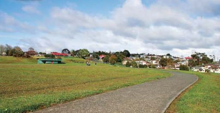 Royal Reserve, Massey, West Auckland, NZ. Access via Beauchamp Drive or Rush Creek. Views of Westgate shopping centre. Adjacent to West Harbour Lodge rest home. Photo c.2010.