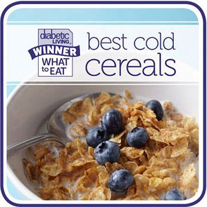 Best Cold Cereals: dietitian-approved and taste tested!  Great for everyone...not just for diabetics!