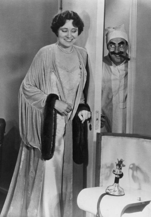 The great unflappable Margaret Dumont. Here she is with Groucho Marx in Duck Soup (Leo McCarey, 1933)