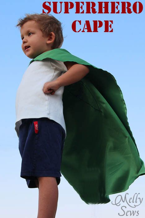 Superhero Cape by Melly Sews.   Also has links to 3 other cape tutorials.