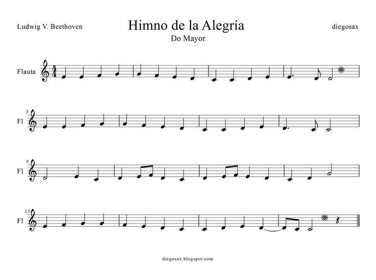 himno dela alegria pentagrama - Buscar con Google