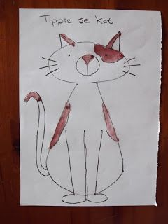 A Pretty Talent Blog: School Holiday Project: Draw & Paint Tippie's Cat