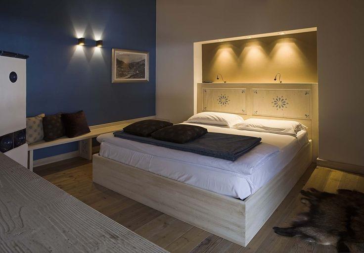 Camera Ciampedel, hotel di charme Villa Klofer Wonderland Resort a Campitello di Fassa. #trentinocharme