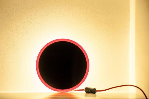 Wall red-black circle mininal LED Zen Black Dot lamp by herywalery