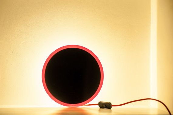 Wall red-black circle mininal LED Zen Black Dot lamp by herywalery