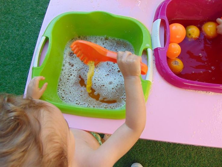 Orange water sensory play! Put some water in your sensory tub, add some drops of orange food colouring, if you wish you can add some baby shampoo to make bubbles, and add oranges and orange prompts.