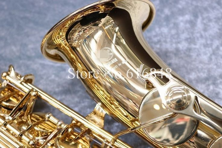 (313.50$)  Watch here  - New Copy YAS-280 Saxophone Alto Eb Sax Gold Lacquer E- flat Saxfone Alto Sax with mouthpiece case,reeds,gloves.DHL/UPS