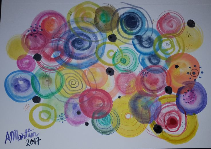 """#OpusDailyPractice word promt """"Vibrant"""" painted with Inktense Blocks and accented with Gelly Roll Shimmer Pens."""