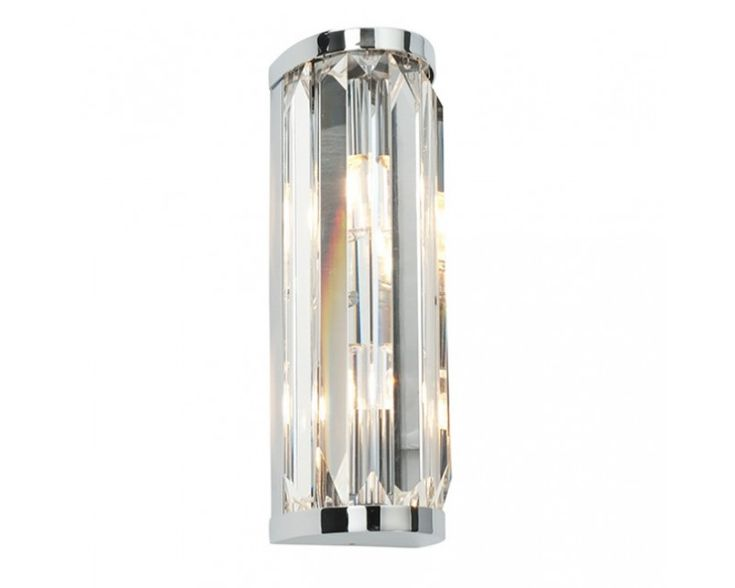 Endon 39629 Exquisite Glamorous And Chic The Crystal Wall Light Is Perfect Choice For Luxury Bathroom
