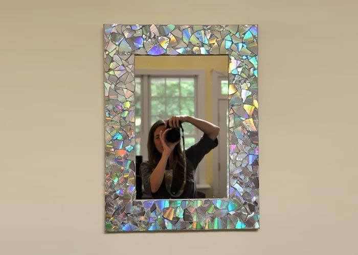 moldura_para_espelhos_em_mosaico_com_cds_Reciclar CDs