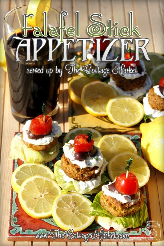 Falafel Stick Appetizer Easy Entertaining Recipe