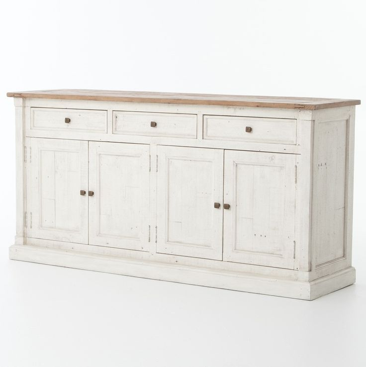 Cintra Reclaimed Wood White Sideboard Buffet