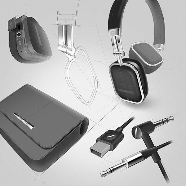 Harman Kardon Headphones - Soho Wireless on Industrial Design Served