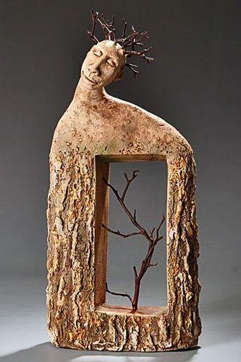 'Arborist' - Roelna Louw, ceramic sculpture                                                                                                                                                                                 More