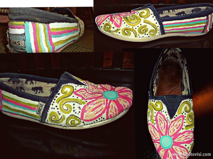 Painted old Toms Shoes
