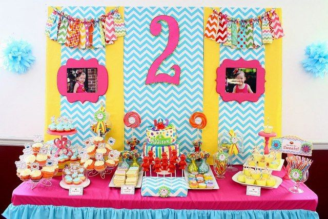 Sesame Street chevron dessert table #sesamestreet #chevron #desserttable: Street 2Nd, Birthday Parties, Sesame Street Parties, Chevron Sesame, 2Nd Bday, Drop Ideas, Parties Ideas, 2Nd Birthday, Sesame Street Birthday