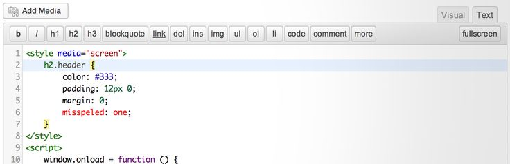 HTML Editor Syntax Highlighter - Add syntax highlighting to the HTML editor.
