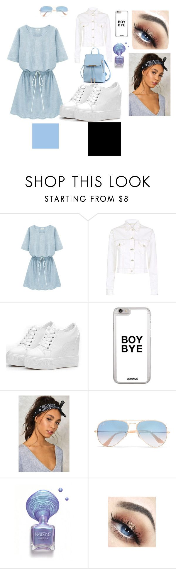 #1 by una-s on Polyvore featuring moda, Maje, Nasty Gal and Ray-Ban
