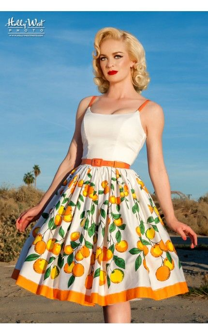 *Swoon* Jenny Dress in Orange Border Print - This will be in my closet by the end of the summer. So excited they made the skirt into a dress!