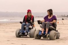 Power wheelchairs for the beach in San Diego- free rental- how cool is that?