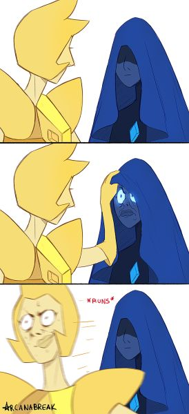 has this been done yet SU steven universe Blue Diamond ? ? yellow diamond su comic 2016farts