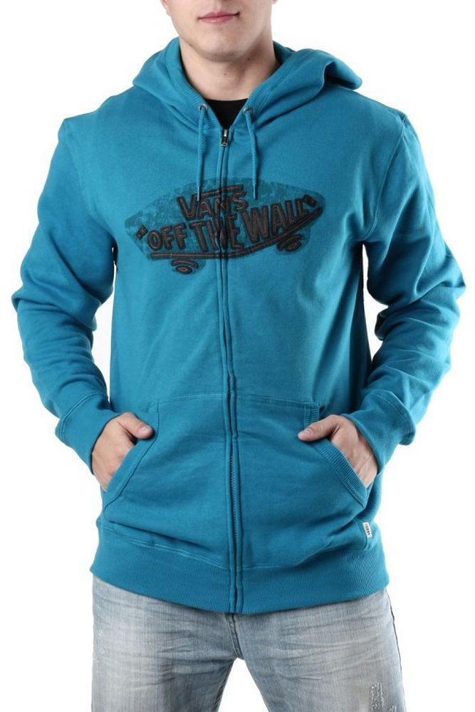 VANS Man Zip Hoodie sweater Blue Sizes: XS S M L XL  #Vansoffthewall #Hoodie
