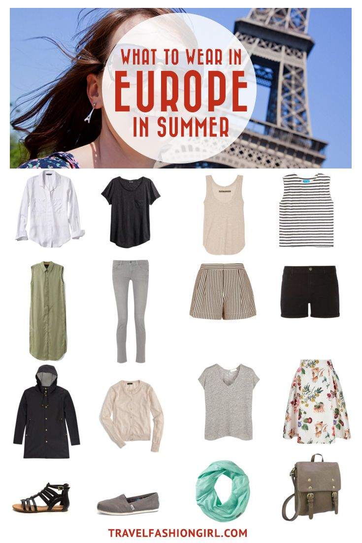 Are you planning a trip to Europe in the summer? Whether you are planning to head to Rome, Paris, Berlin, Madrid or London, this packing list is a great start! Click here to find the secrets to packing for Europe in summer.   TravelFashionGirl.com