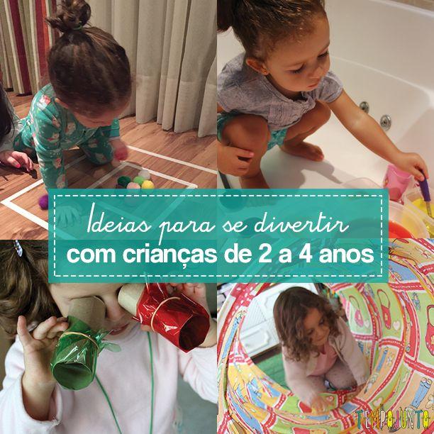 10 ideias de brincadeiras para crianças pequenas para você aproveitar naqueles ideias em que não sabe mais o que fazer com os pequenos dentro de casa.