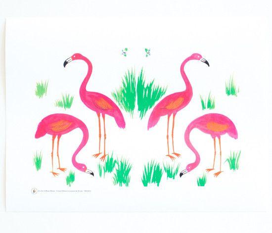 Bruno Munari – Flamingos Print